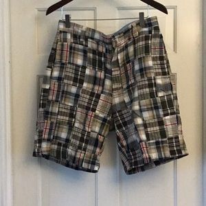 "CHAPS plaid shorts, 31"" waist"